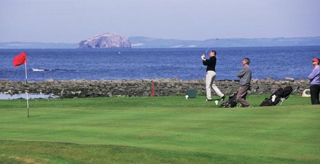 Golfers in East Lothian